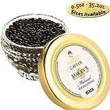 Marky s Russian Osetra Karat Black Caviar - 1 oz Premium Osetra Sturgeon Malossol Black Roe - GUARANTEED OVERNIGHT