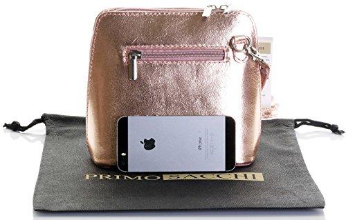 Bag a Includes Genuine Storage Leather Rose Branded Handbag Gold Primo Protective Shoulder Sacchi Bag Italian Small SvYqYn