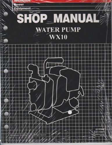 Honda Shop Manaul Water Pump WX10