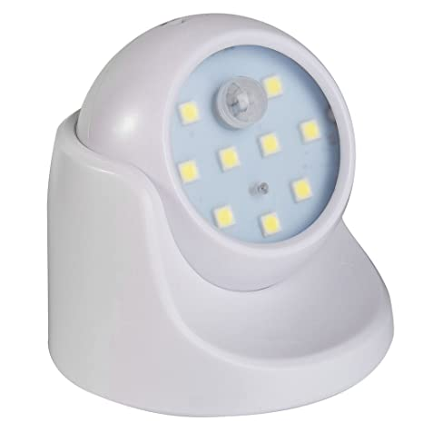 Comficent Sensor de movimiento inalámbrico Luces LED 360 grados de Rotación Lámpara de pared de jardín