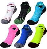 FASTBON Short Compression Socks 10-20mmHg Men & Women - Best Athletic & Medical Running, Flight, Travel, Blood Circulation & Recovery (1,2, 3, 6 Pair) US 5-8