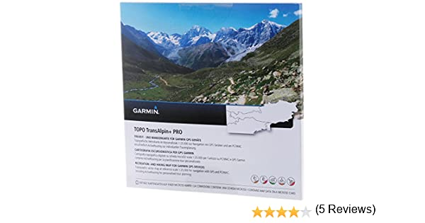 Garmin Uni Topo Transalpin + Pro, Mapa topográfico Vectorial ...