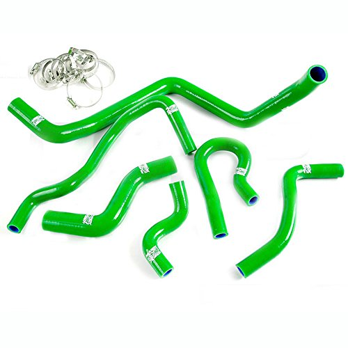 Silicone Radiator Coolant Hose Kit Clamps For 1992-2000 HONDA CIVIC EK EG EX SOHC D15 D16 Green