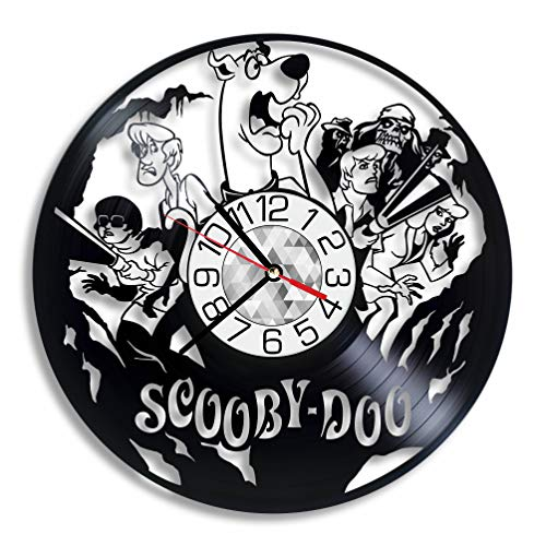 Scooby-Doo Cartoons Vinyl Record Art Clock Wall Art Home Kids Room Decor Handmade Party Supplies Theme Stuff Unique Gift Vintage Decoration Merchandise Accessory Item]()