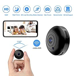 YIUAEVL WiFi Spy Camera 1080P, Mini Camera Spy Wireless with Audio and Video Recording Live Feed Hidden Spy Cam Nanny Camera, No Light Night Vision, Motion Detector (with iOS/Android Phone APP)
