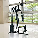 Festnight Adjustable Home Gym Exercise Equipment Machine Durable 100 lb Stack