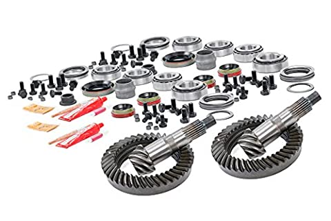 Rough Country - 103035456 - Front HP D30 & Rear D35 4.56 Gear Set w/ Install Kits (84-99 Cherokee XJ) for Jeep: 84-99 Cherokee XJ - 4.56 Gears