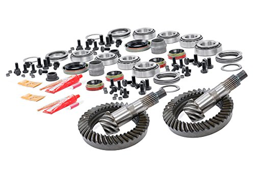 Rough Country - 203035456 - Front HP D30 & Rear D35 4.56 Gear Set w/ Install Kits (87-95 Wrangler YJ) for Jeep: 87-95 Wrangler YJ - Shim Axle Set