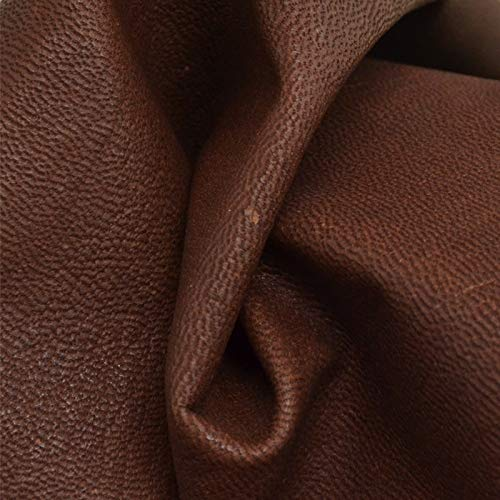 The Leather Guy - Veg Tan Goat Goatskin Hide Book Binding 5.2 SF Brunette 2 oz-8]()