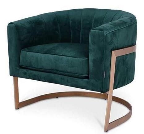 Casa Padrino sillón de Terciopelo Verde Oscuro/Cobre 70 x 66 ...