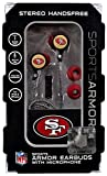 NFL San Francisco 49ers Sports Earphones San Francisco 49ers Earbuds [with Microphone]