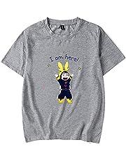 QJF My Hero Academia uroczy damski T-shirt, 2021 akcesoria anime nadruk T-shirt anime, letnia koszulka z okrągłym dekoltem (S-3XL)