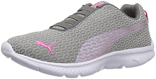 PUMA Women's Fashin Alt Twill Walking Shoe, Steel Gray/Pink Glow, 7 M US (Women Pink Puma Shoes)