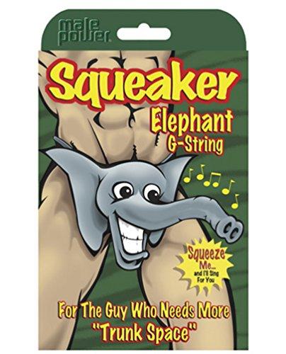 Squeaker Elephant G-String Assorted