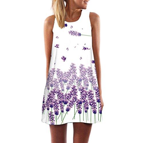 Sundress Casual Women's Tank 27 Dress Sleeveless Floral Jaycargogo Loose Summer vHIq4qZ