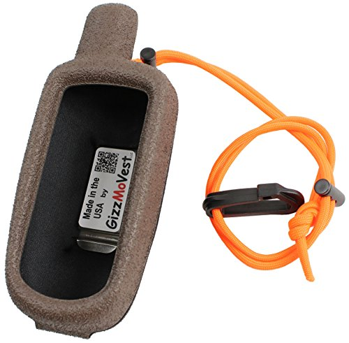 Garmin 64 GPSMAP 64s, 64 CASE COVER made by GizzMoVest LLC in 'Hunters Coffee'. High-tech Composite Molded Protection includes Metal Belt Clip, Wrist Lanyard-Clip. MADE IN THE USA