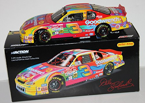 - Limited Edition Dale Earnhardt Sr #3 Peter Max Goodwrench Chevrolet 1/24 Scale Diecast Hood Opens Trunk Opens HOTO Action Racing Collectables ARC Limited Edition Car