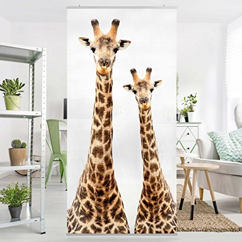 cheap Panneau-rideau - Portrait of two giraffes 250x120cm   support ...