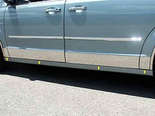 TH38326 10 Pc: SS Rocker Panel Body Accent Trim, 8.5 Wide - Full Kit: Bottom of The molding to The Bottom of The Door, XLT, Short Bed, w//Flares QAA FITS Ranger 1998-2011 Ford