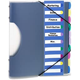 Pendaflex PileSmart Project Sorter - 10 x Divider - 10 x Tab - 8.50quot; x 11quot; - 1 Each - Multicolor Divider