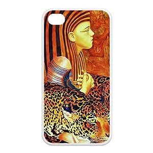 Custom Egypt Cleopatra,Pyramid,Maya Design Rubber TPU Case for Iphone 4 4S
