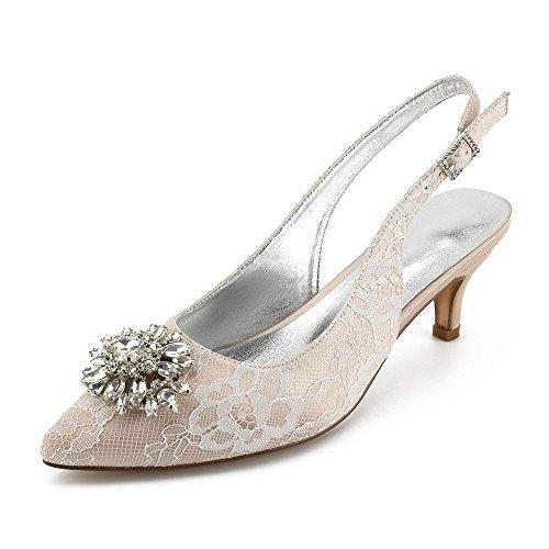la Avec cheville Zxstz bride Sandals et à champagne nw1xxI8Pq