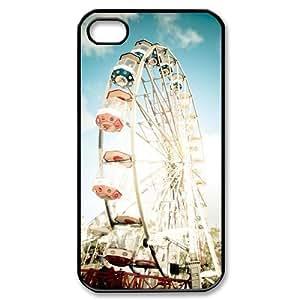 Diy Cool Ferris Wheel Custom for iphone 4 Black Shell Phone Cover Case LIULAOSHI(TM) [Pattern-1] by mcsharks