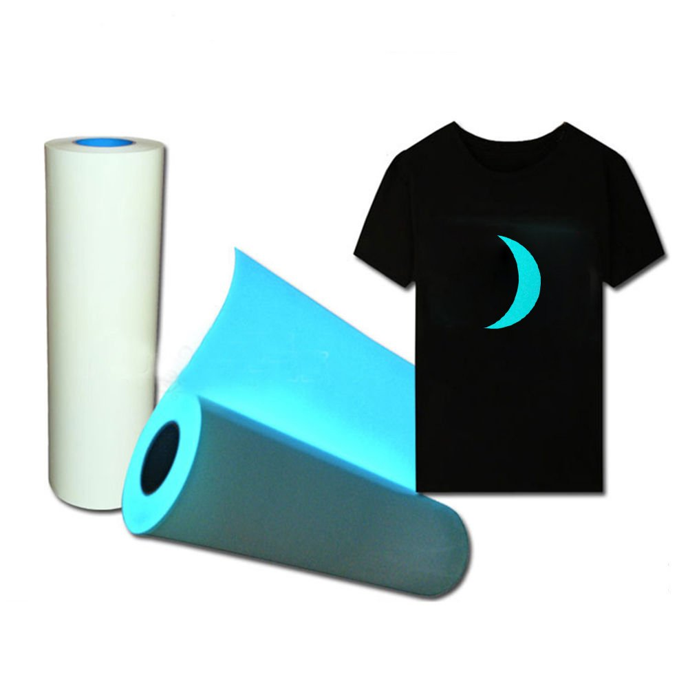 HOHOFILM Glow in The Dark Blue Heat Transfer Vinyl T-Shirt Press Paper Sheet Print Pattern 20x12