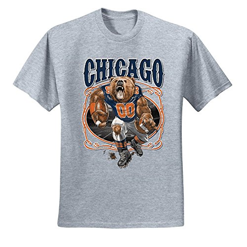 - Chicago Fan | CHI Fantasy Football | Mens Sports Graphic T-Shirt, Heather Grey, 5XL
