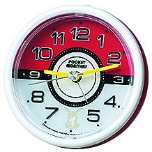 Seiko Clock Alarm Clock CQ420R Pokemon Monster Ball Red Pocket Monster Sun & Moon Analog
