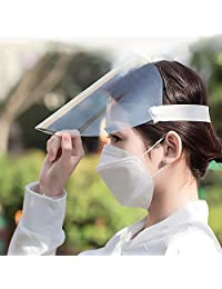 TERAISE Anti-Saliva Face Shields Transparent Protective Visor Adjustable Size Anti-Fog Dust-Proof for Men and Women Cooking/Cleaning