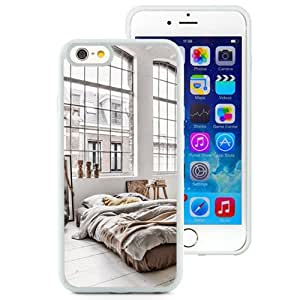 Beautiful Unique Designed iPhone 6 4.7 Inch TPU Phone Case With Minimalistic Bedroom Large Windows_White Phone Case