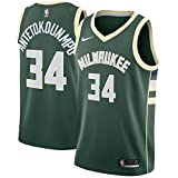 NOPOT Men's Milwaukee Antetokounmpo Green Swingman Jersey - Icon Edition