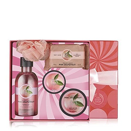 The Body Shop Pink Grapefruit Festive Picks Gift Set, 5pc Bath and Body Gift Set (Gift Bath Body Set)