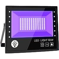 BOSITE Led-blacklight spot, 60 W, uv-blacklight, partyschijnwerper, blacklight met kabel, schijnwerper, IP66 waterdicht…