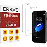 Crave Glass Screen Protector for Apple iPhone 8 7 6s 6 [2-Pack] HD Tempered Glass [Compatible with iPhone 8, iPhone 7, iPhone 6s, iPhone 6]