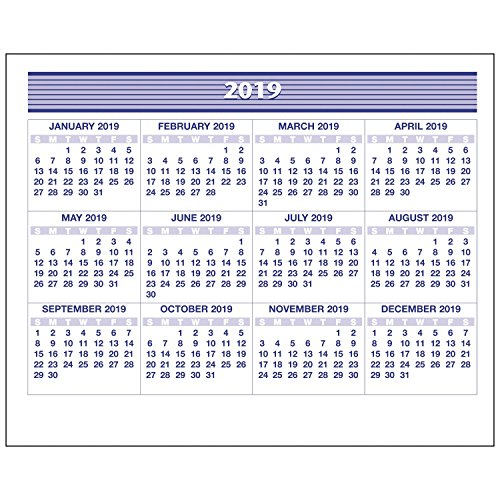 AT-A-GLANCE 2019 Weekly Desk Calendar Refill, 5-5/8