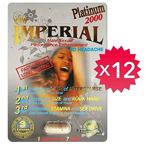 - *Special* Imperial Platinum 2000 Male Enhancement Pill. Natural & Effective! (12)
