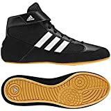 Shoes Best Deals - Adidas HVC Men's Wrestling Shoes Black/Running White/Gum 11.5