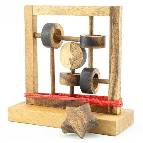 BRAIN GAMES Moon Walker Wooden Puzzle
