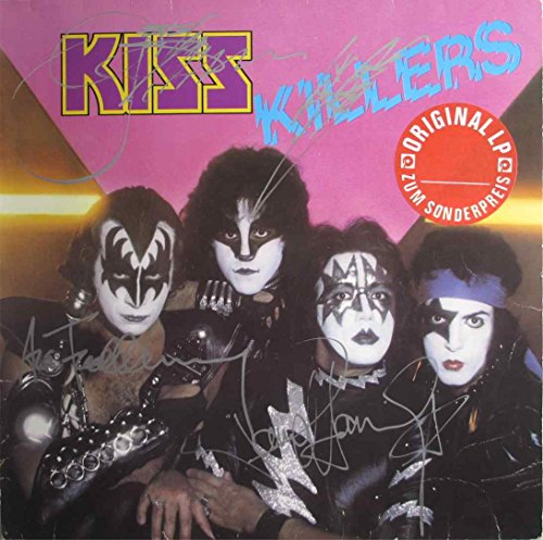 Kiss Band Killers Autographed Signed Record Album Lp Vinyl Certified Authentic Coa By Carr  Deceased   Simmons  Stanley  Frehley Rare