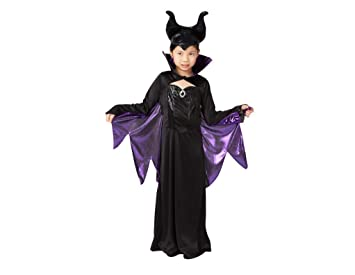 george disney villains maleficent fancy dress girls 7 8 years halloween costume with cape