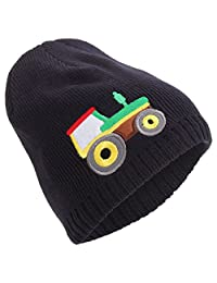 Universal Textiles Childrens/Boys Embroidered Fleece Lined Winter Beanie Hat