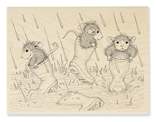 Stampendous HMR115 House Mouse Wood Stamp, Puddle Jumpers]()