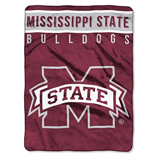 The Northwest Company Officially Licensed NCAA Mississippi State Bulldogs Basic Raschel Throw Blanket, 60