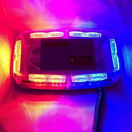 Luce Stroboscopica per Auto Verde HEHEMM 36 Led Spia Magnetico Montato Lampeggiante Strobe Beacon lampade Luci del Tetto Dellautomobile Luce di Emergenza Spia Luminosa Barra Luminosa DC 12 V