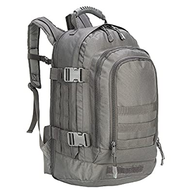 PANS Military Outdoor Backpack,Expandable Tactical Backpack,School Backpack,DIY System for Travel,Work,Camping,Hunting,Trekking and Hiking