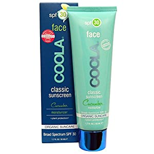 COOLA Organic Suncare Collection, Face, Classic Sunscreen, SPF 30, Cucumber, 1.7 fl oz (50 ml)