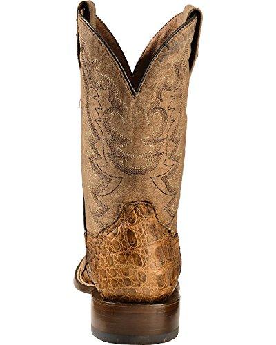 Dan Post Mens Caiman Foot Leather Cowboy Boot Square Toe - Dps256 Bay Apache eXvCf