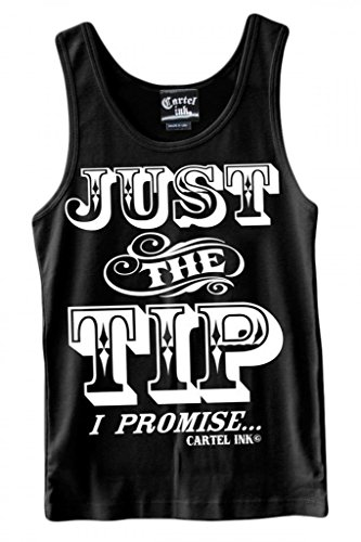 Men's Cartel Ink Just The Tip I Promise Tank Top Black (Tip Tank)